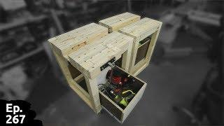 fabrication d'un établi mobile - finalisation de l'établi et pose de deux tiroirs - part3 - Ep266