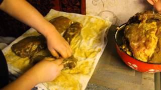 Холодное копчение балыка, сала, рёбер и рыбы.