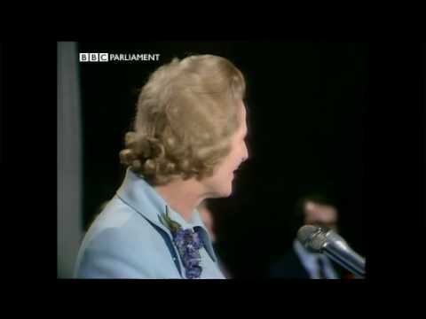 Declaration at Finchley constituency Feb 1974 General Election - Margaret Thatcher.