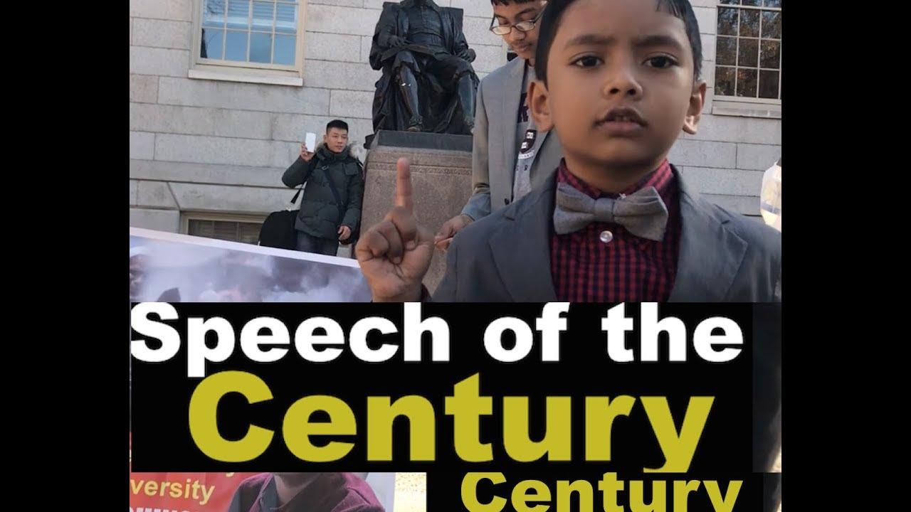 Speech of the Century at Harvard University