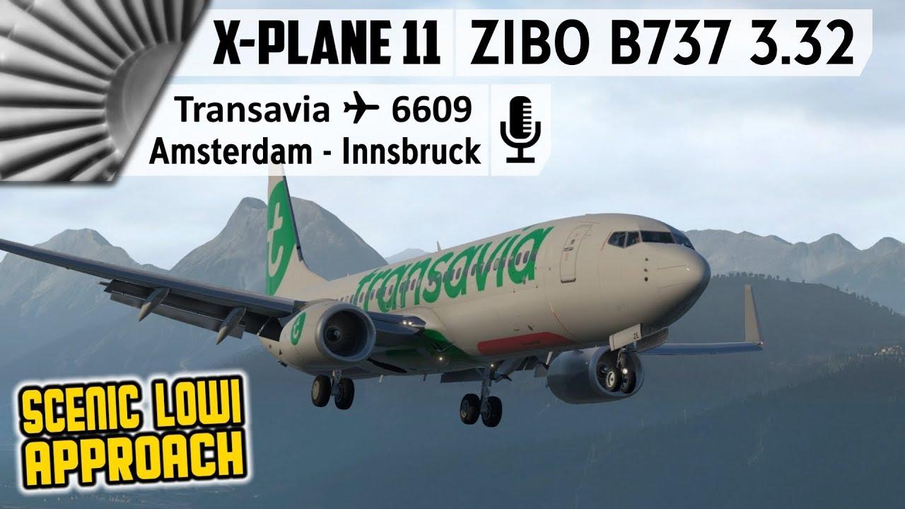 ZIBO MOD B737-800X v3 32 and X-Plane 11 30 Final | EHAM to LOWI
