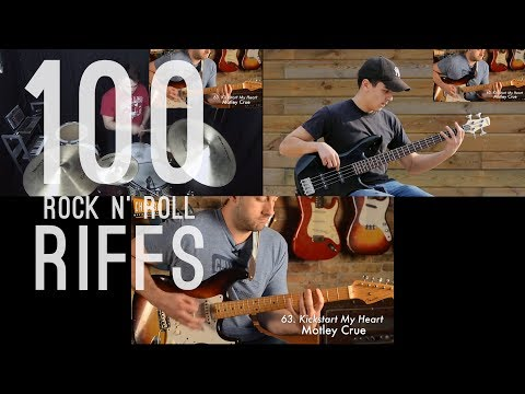 100 Riffs (A Brief History Of Rock N' Roll) - Band Edition