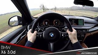 BMW X6 xDrive30d POV Test Drive + Acceleration 0 - 200 km/h