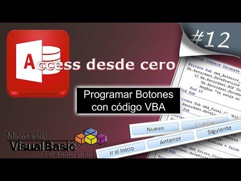 Programar Botones con código VBA | Access desde cero #12