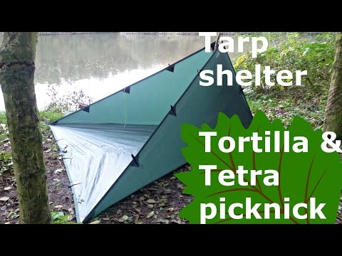 Tarp pitches tortilla and tetra picknick, for better lunch breaks!