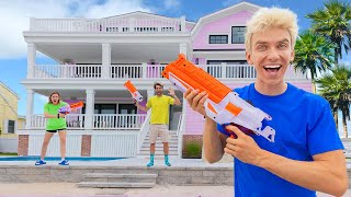 EXTREME Nerf Hide and Seek!! (In NEW Sharer Family Beach House)