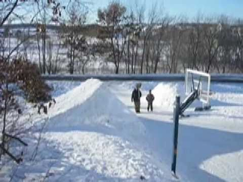 Middleton WI Backyard Snowboarding YouTube - Backyard snowboarding