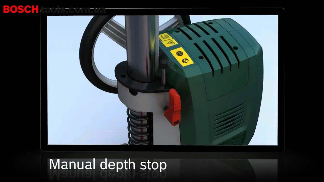 сверлильный станок Bosch PBD-40 - YouTube