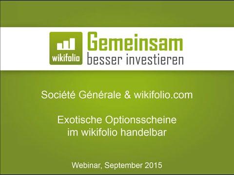 WEBINAR: Société Générale & wikifolio.com | 09.09.2015