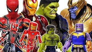 Avengers Minimates! Defeat the Thanos! Hulk, Spider-Man, Iron Man, Captain America