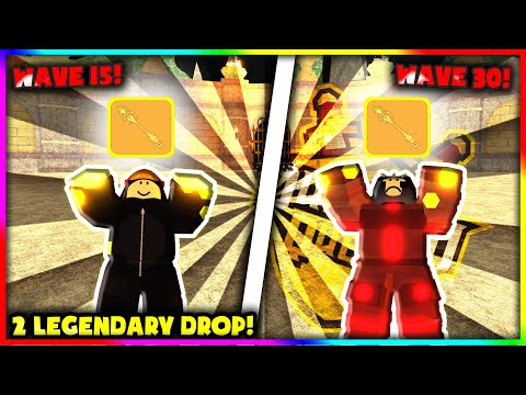 TWO LEGENDARY DROPS! IN A ROW DURING WAVE DEFENCE ROBLOX DUNGEON QUEST SUPER LUCKY DROPS  ROBLOX
