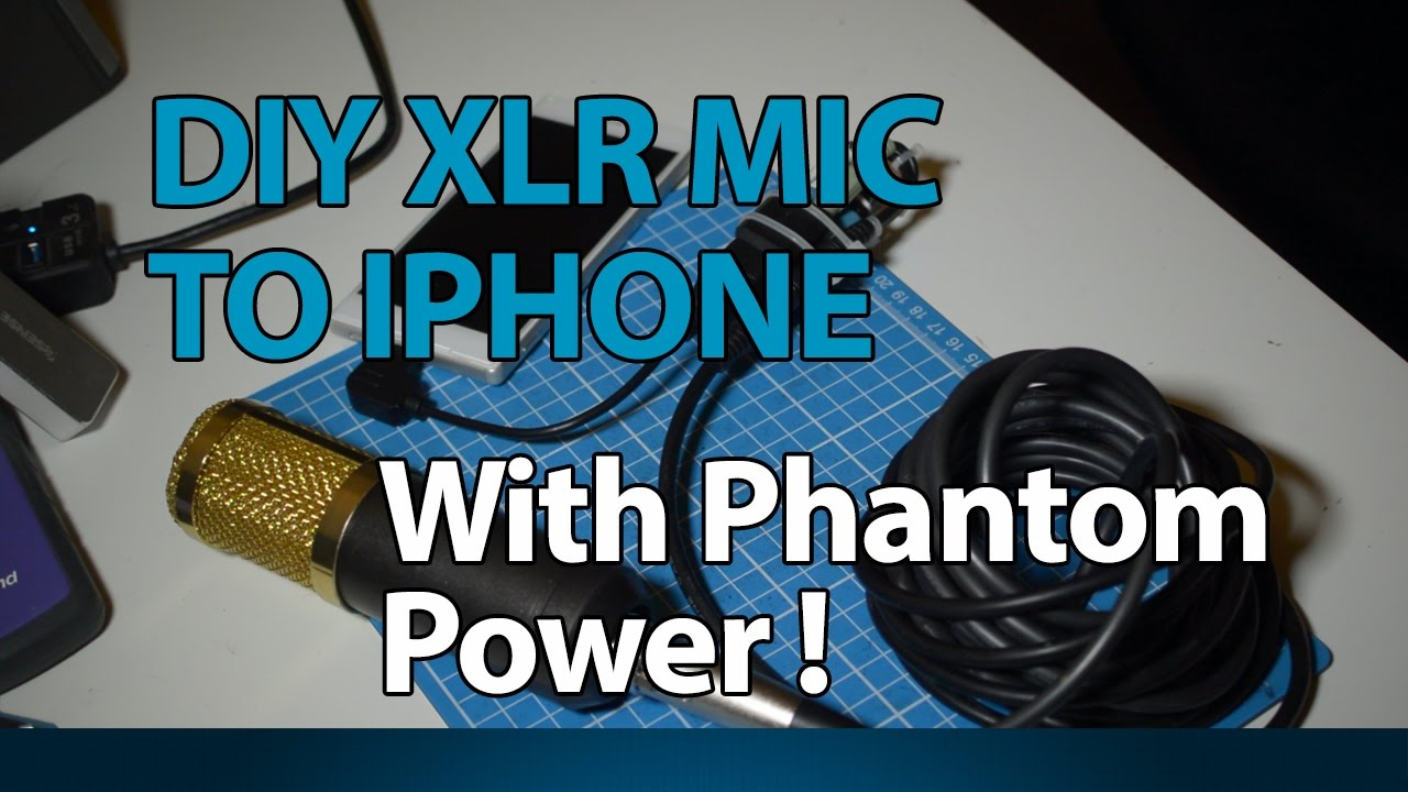 Diy Xlr Mic To Iphone Interface With Phantom Power Youtube Ipad Microphone Wiring Diagram