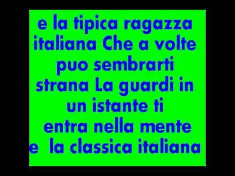 Testo de la tipica ragazza italiana