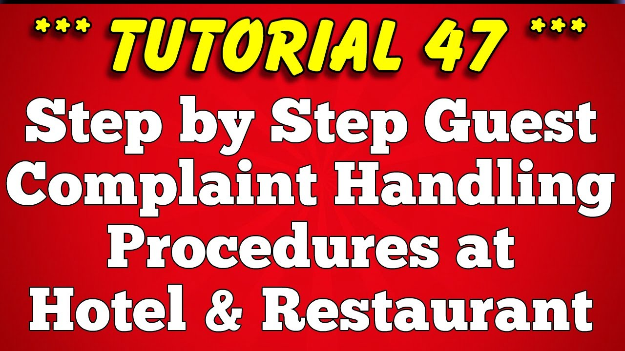 Step by Step Guest Complaint Handling Procedure (SOP)