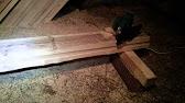 Установка деревянных заборов в Киеве и области - YouTube