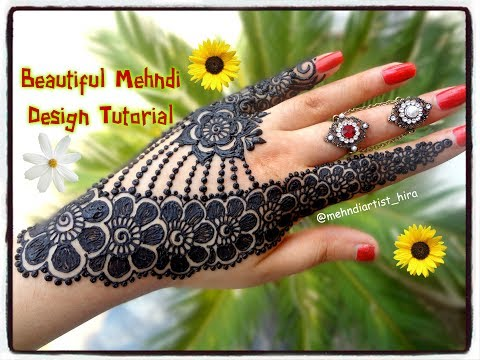 How To Apply Beautiful Latest Arabic Khaleeji Jewellery Henna Mehndi