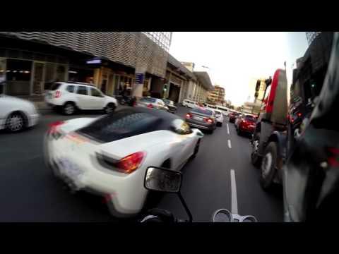 Lanesplitting through peak Sandton traffic