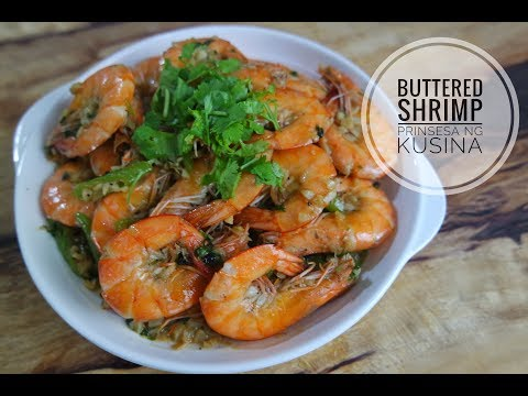 Buttered Shrimp with Garlic and Parsley