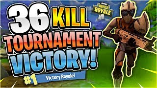 36 Kill Tournament Game! Tournament Highlights #42 (Fortnite Battle Royale)