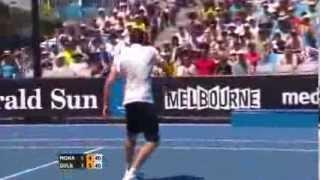 Austarlian Open Maris Gulbis Breaks Racket