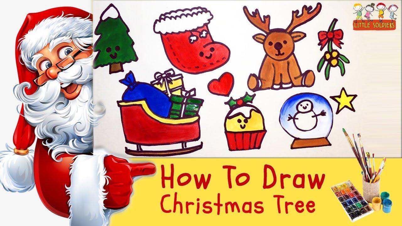 Christmas Gifts Ideas for kids|| How to draw Santa sleight|Santa ...