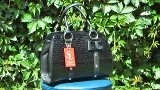 Черная модель сумки в лаковом турецком материале 2016 года(http://styleline-opt.com/zhenskie-sumki-optom-ves-assortiment-i-modeli-fabriki-style-line/784-sumka-zhenskaya.html., 2016-06-10T08:26:45.000Z)