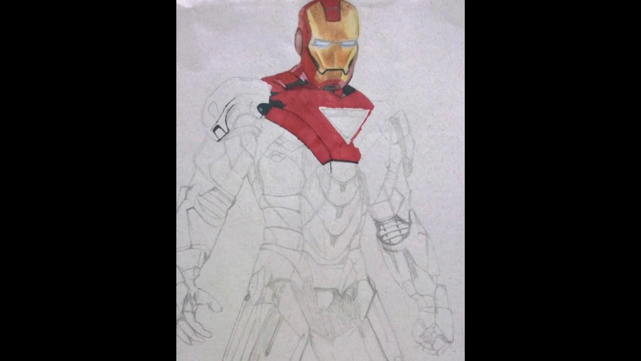 Desenho Realista Homem De Ferro Youtube