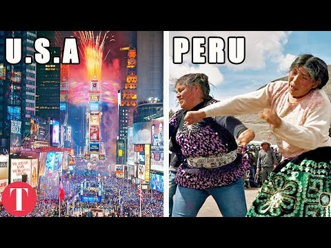 10 STRANGEST New Year's Traditions From Around The World