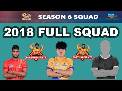 GUJARAT TEAM 2018 || FULL SQUAD OF SEASON-6 || VIVO PRO KABADDI 2018.