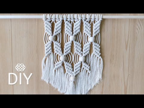 easy-macrame-wall-hanging-|-flower-pattern-with-beads-|-diy