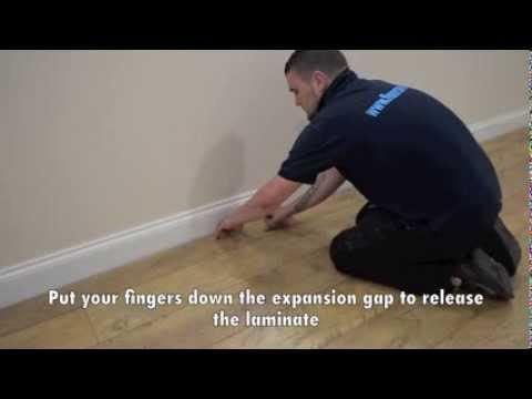 How To Lift Up Laminate Flooring Youtube