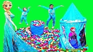 DISNEY FROZEN Movie Videos 2016 Ice Castle Rainbow Ballpit Sur…