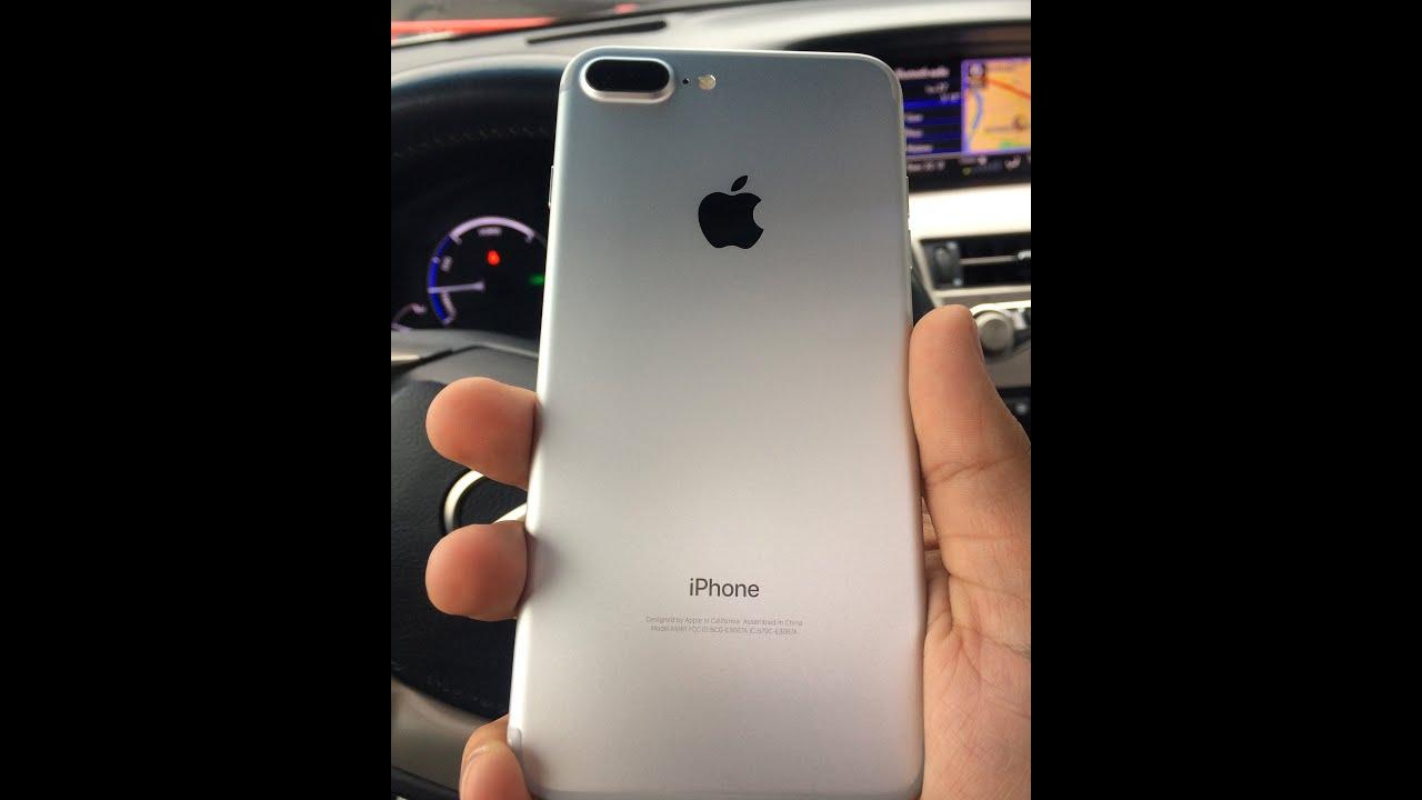 Распаковка айфон 7 плюс 256 Гб белый(серебристый)/Unpacking Apple .
