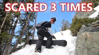 SCARED 3 TIMES SNOWBOARDING IN WHISTLER