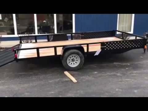 Force 7x14 open utility trailer ramp gate with ATV side ramps $1599.00