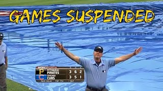 MLB Games Suspended