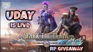 [LIVE]PUBG MOBILE LIVE || UC GIVEAWAY || Season 14 RP Giveway on 1000 points  || UDAY GAMING