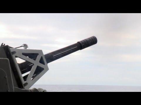 US Navy - USS Nimitz (CVN 68) Nuclear Aircraft Carrier Test Fires Phalanx CIWS [1080p]