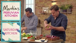Bbc Saturday Kitchen - Martin Morales Cooking Andina's Quinoa Burger