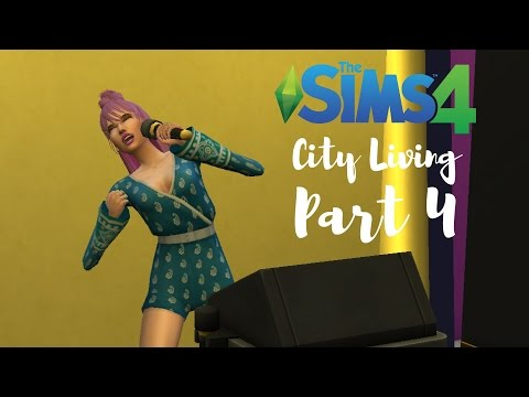 The Sims 4: City Living Let's Play | Part 4- Karaoke Champs?