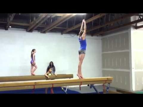 Back Tuck On High Beam Gymnastics