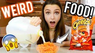 Testing WEIRD Food Trends! Strange Food Combinations!