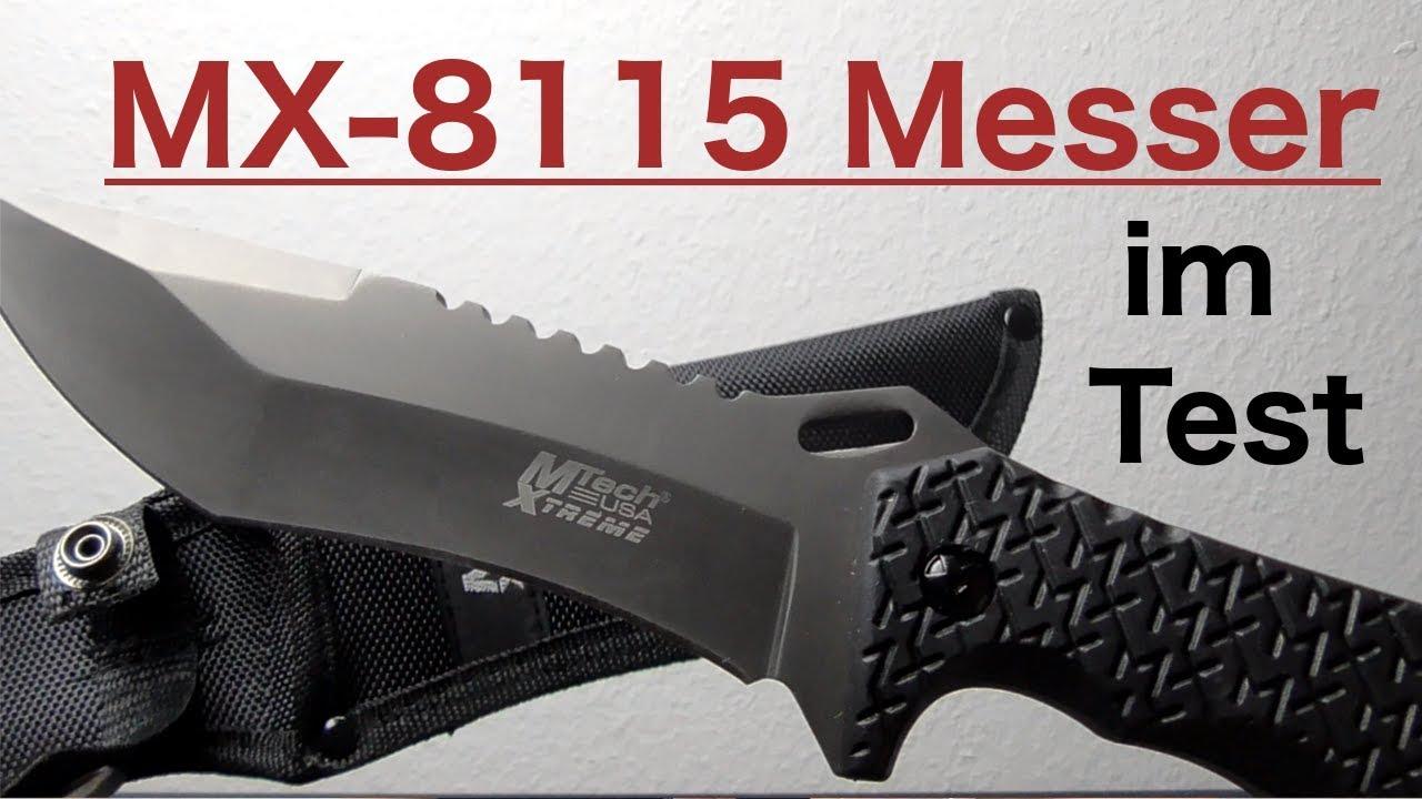Mx 8115 Mtech Usa Xtreme Messer Im Test Youtube