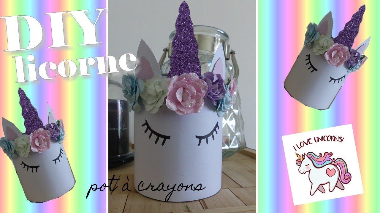 diy : pot à crayons licorne - recyclage, simple et rapide - youtube
