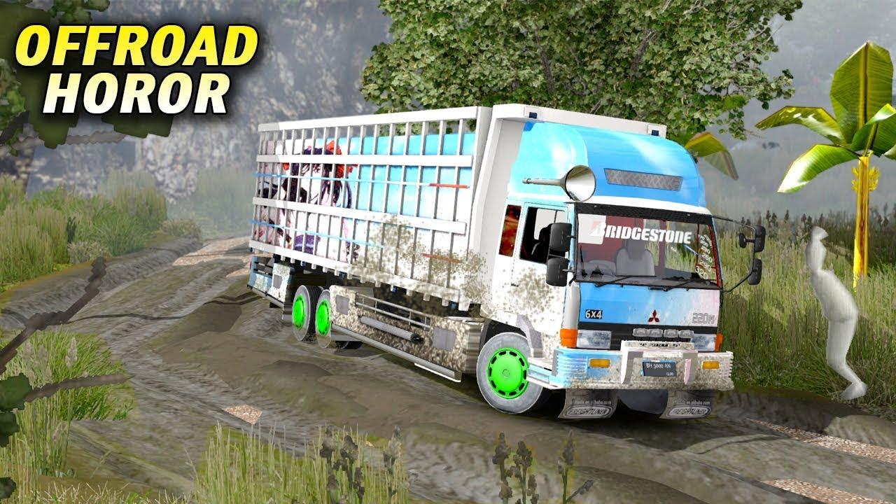 Offroad Truk Fuso Di Kalimantan Ketemu Pocong Ets2 Youtube