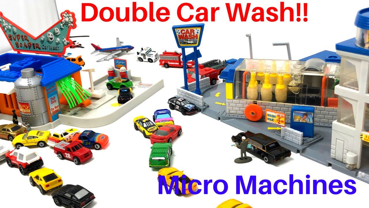 Micro Machines Toy Car Wash & Super Soaper Car Wash Two car wash playsets!