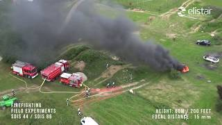 Elistair Use Case - RAW FOOTAGE - Tethered Drone Helps Firefighters During Fire Exercice