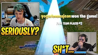 Ninja Gets *MAD* at His Teammate for Losing the Game! - Fortnite Best and Funny Moments