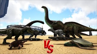 ARK Additions MOD vs Ark Dinos || Ark Battle