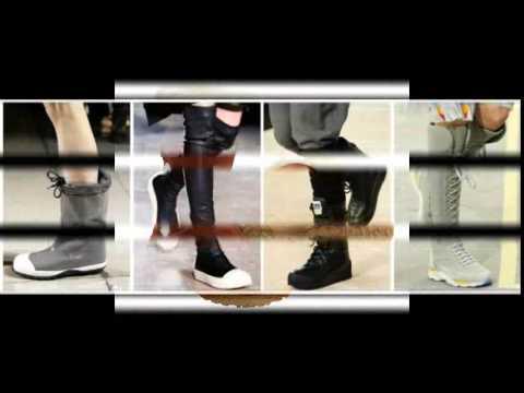 Модные женские резиновые сапоги - YouTube